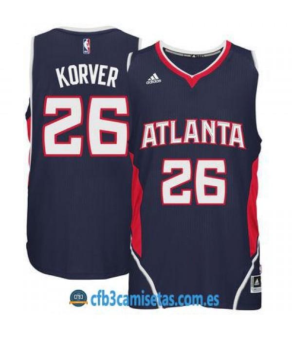 CFB3-Camisetas Kyle Korver Atlanta Hawks Road