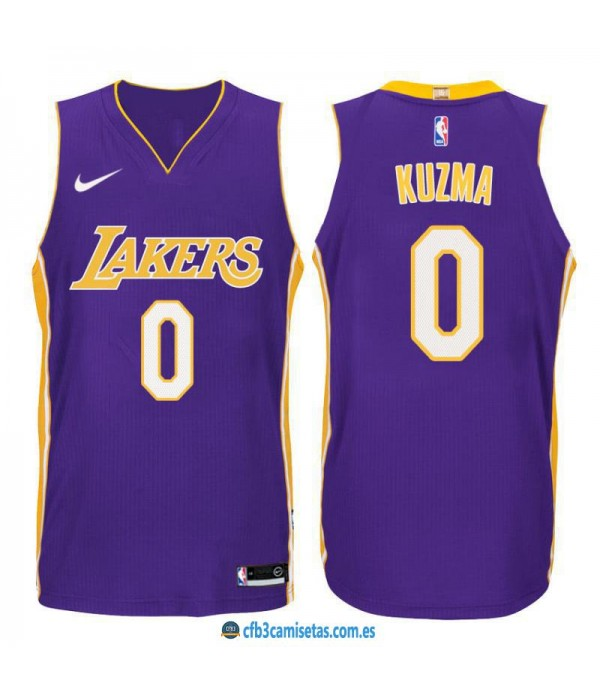 CFB3-Camisetas Kyle Kuzma Los Angeles Lakers State...