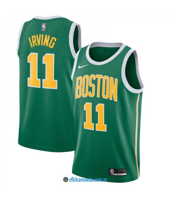 CFB3-Camisetas Kyrie Irving Boston Celtics 2018 2019 Earned Edition