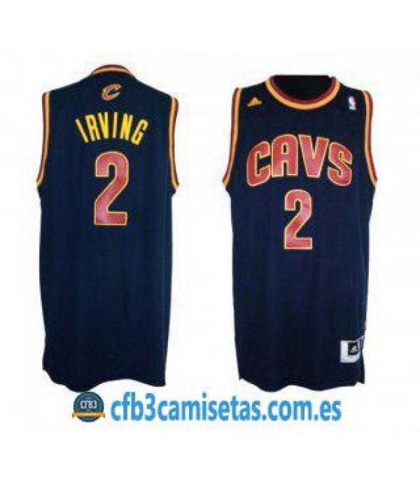 CFB3-Camisetas Kyrie Irving Cleveland Cavaliers Az...