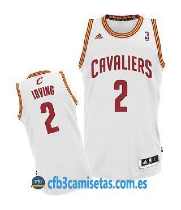 CFB3-Camisetas Kyrie Irving Cleveland Cavaliers Blanca