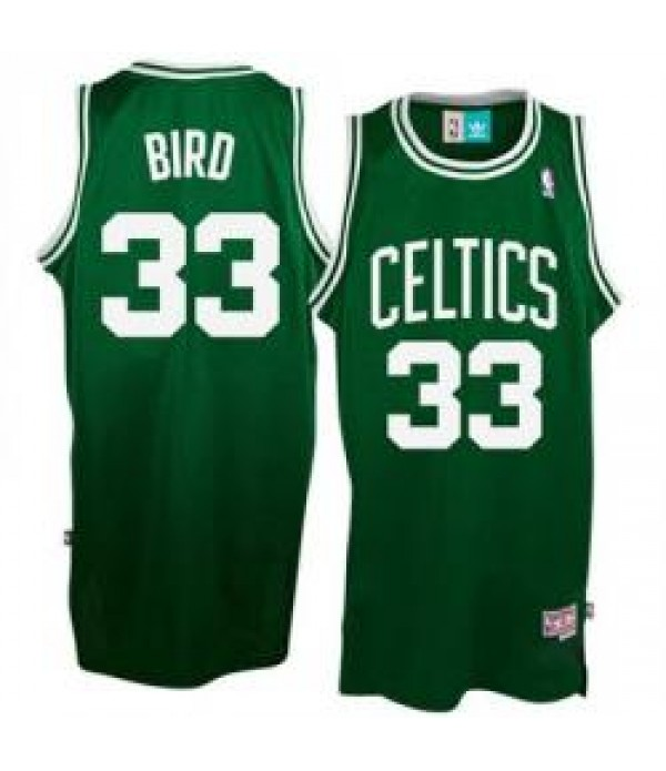 CFB3-Camisetas Larry Bird Boston Celtics Verde y blanca