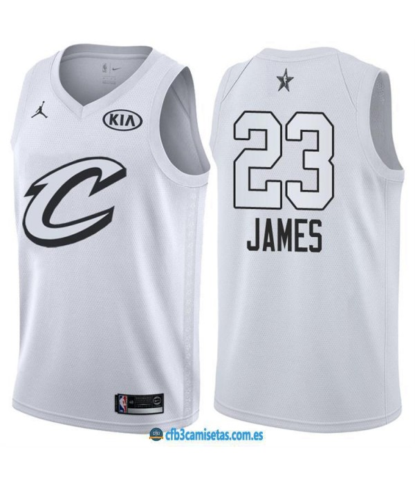 CFB3-Camisetas LeBron James 2018 All Star Black