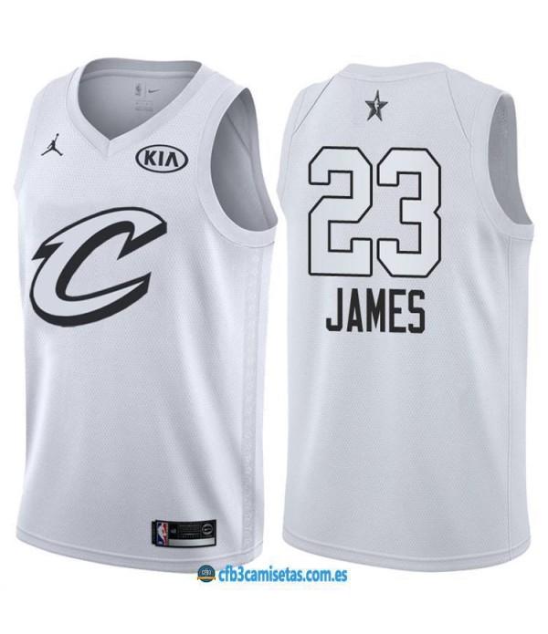CFB3-Camisetas LeBron James 2018 All Star Black