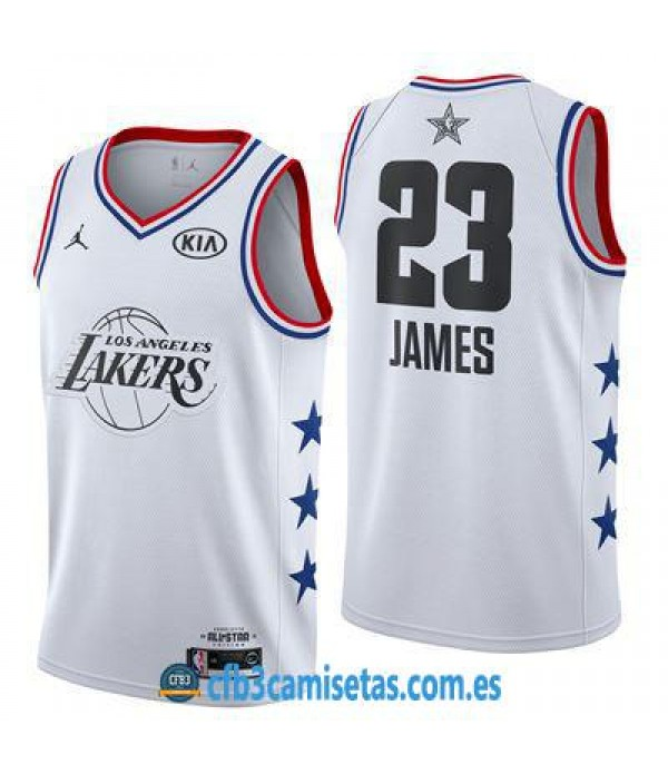CFB3-Camisetas LeBron James 2019 All Star White