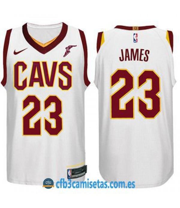 CFB3-Camisetas LeBron James Cleveland Cavaliers As...