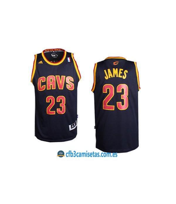 CFB3-Camisetas LeBron James Cleveland Cavaliers Az...