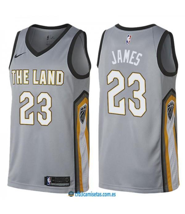 CFB3-Camisetas LeBron James Cleveland Cavaliers City Edition