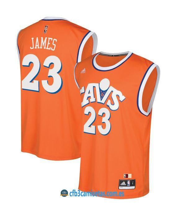 CFB3-Camisetas LeBron James Cleveland Cavaliers Classic Nights