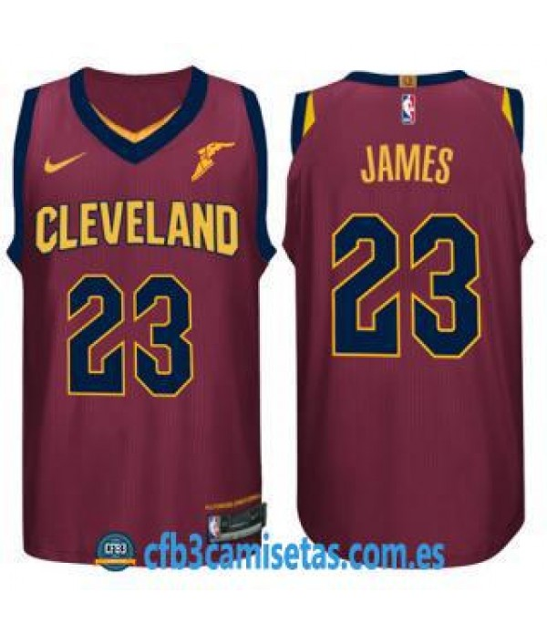 CFB3-Camisetas LeBron James Cleveland Cavaliers Ic...