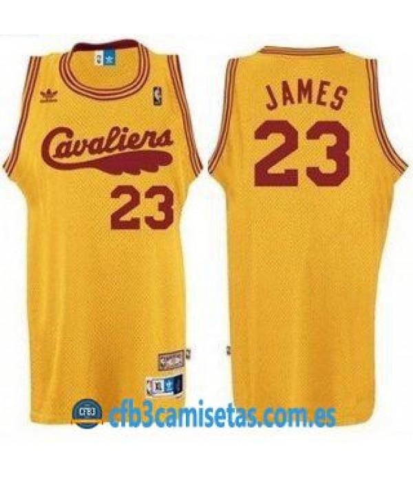 CFB3-Camisetas LeBron James Cleveland Cavaliers RETRO