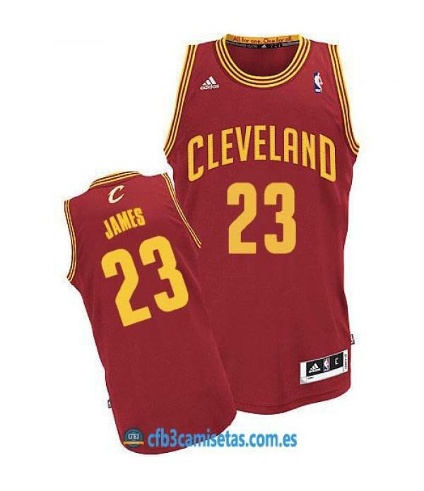 CFB3-Camisetas LeBron James Cleveland Cavaliers Rojo