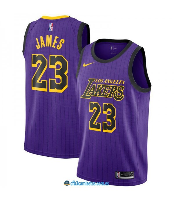 CFB3-Camisetas LeBron James Los Angeles Lakers 201...