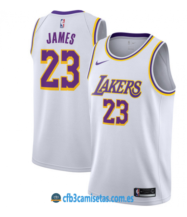CFB3-Camisetas LeBron James Los Angeles Lakers Association 2019