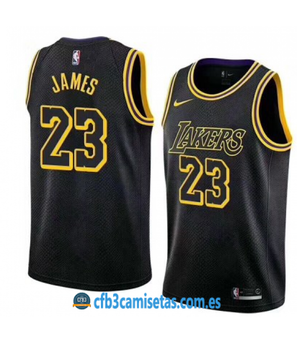 CFB3-Camisetas LeBron James Los Angeles Lakers Cit...