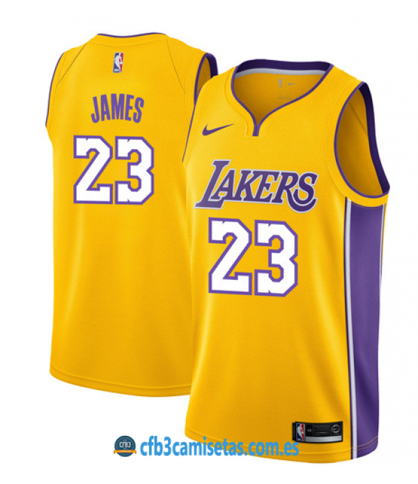 CFB3-Camisetas LeBron James Los Angeles Lakers Ico...