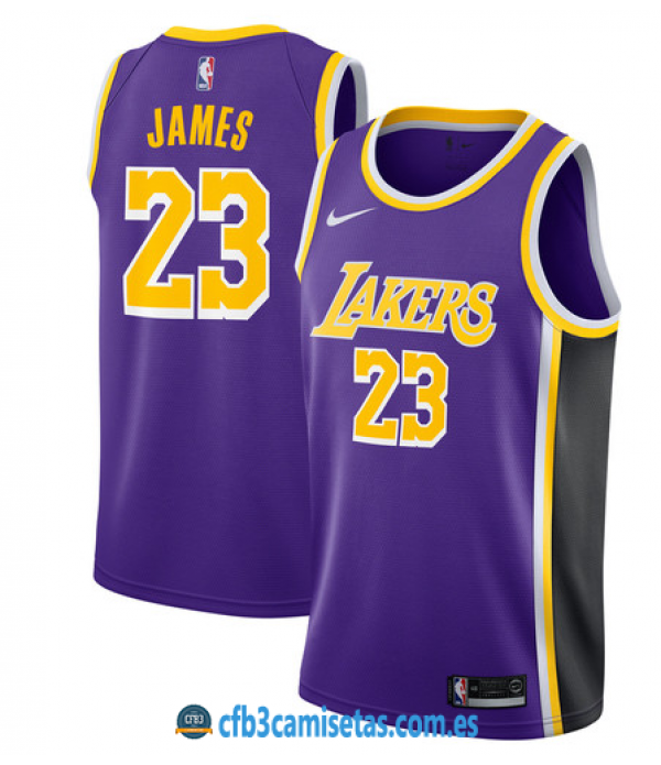 CFB3-Camisetas LeBron James Los Angeles Lakers Sta...
