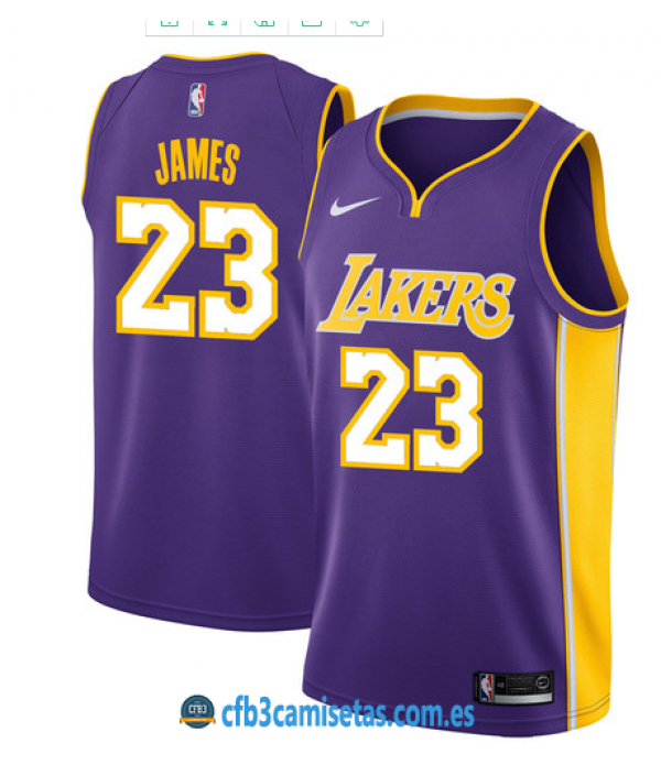 CFB3-Camisetas LeBron James Los Angeles Lakers Statement