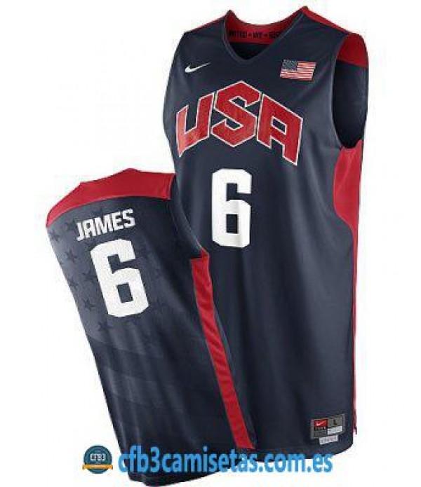 CFB3-Camisetas LeBron James Selección USA 2012 Azul
