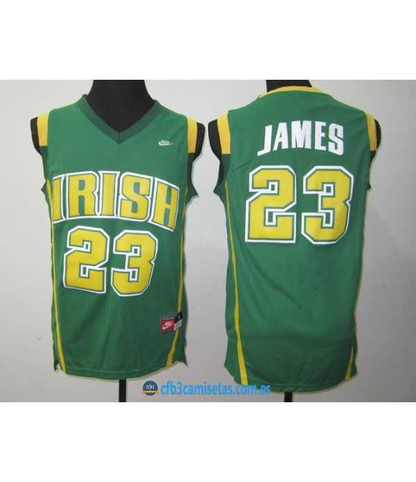 CFB3-Camisetas LeBron James St Vincent St Mary Iri...