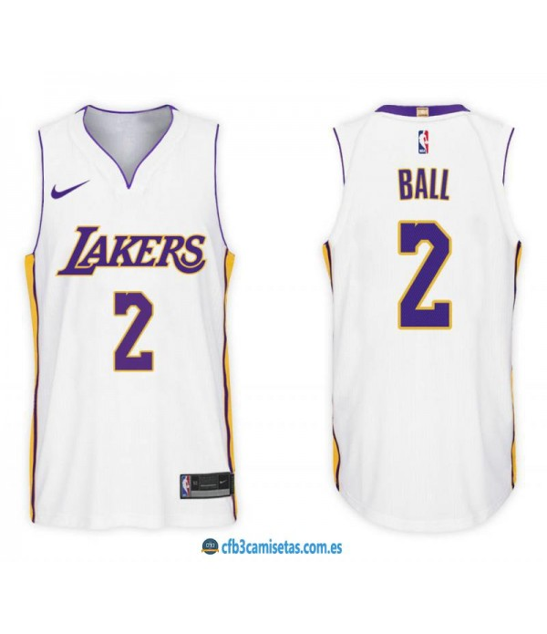 CFB3-Camisetas Lonzo Ball Los Angeles Lakers Assoc...