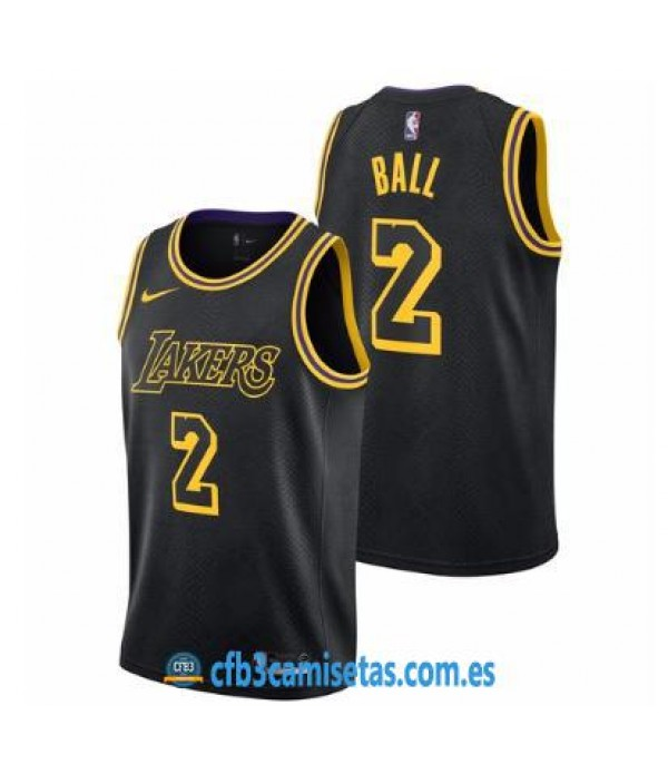 CFB3-Camisetas Lonzo Ball Los Angeles Lakers City ...