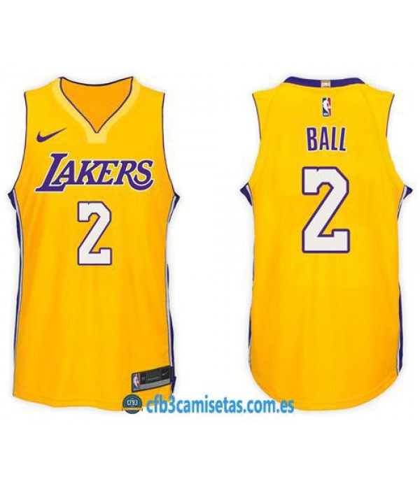 CFB3-Camisetas Lonzo Ball Los Angeles Lakers Icon