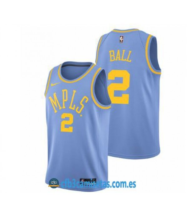 CFB3-Camisetas Lonzo Ball Los Angeles Lakers MLPS
