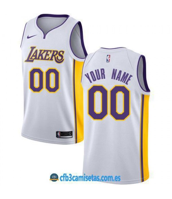 CFB3-Camisetas Los Angeles Lakers Association PERSONALIZABLE