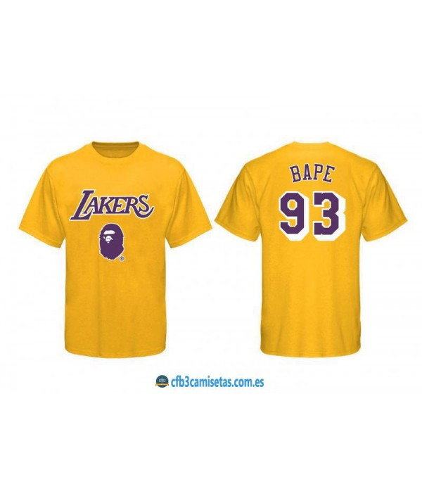 CFB3-Camisetas Los Angeles Lakers BAPE