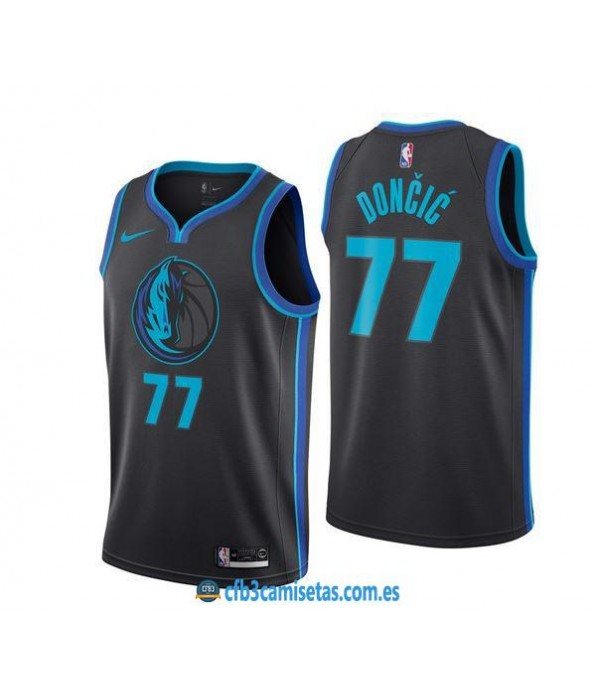 CFB3-Camisetas Luka Doncic Dallas Mavericks City E...