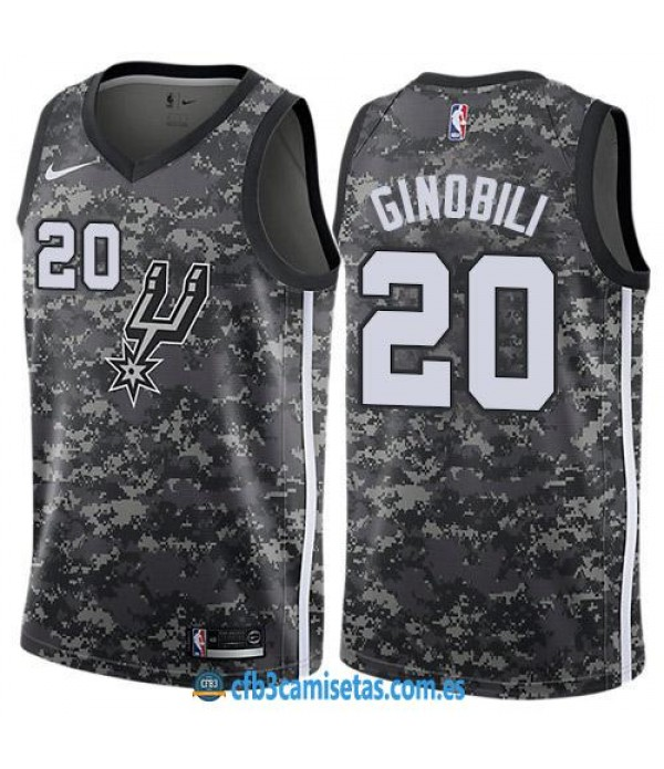CFB3-Camisetas Manu Ginobili San Antonio Spurs City Edition