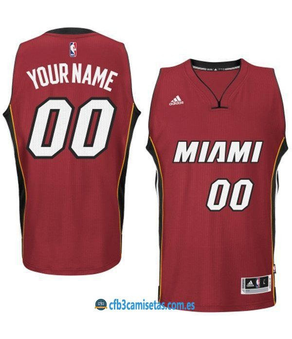 CFB3-Camisetas Miami Heat Alternate PERSONALIZABLE