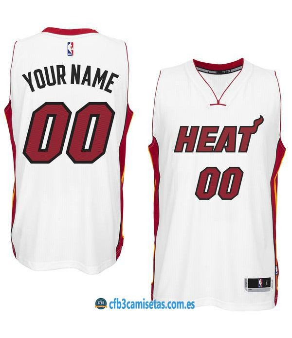 CFB3-Camisetas Miami Heat Home PERSONALIZABLE