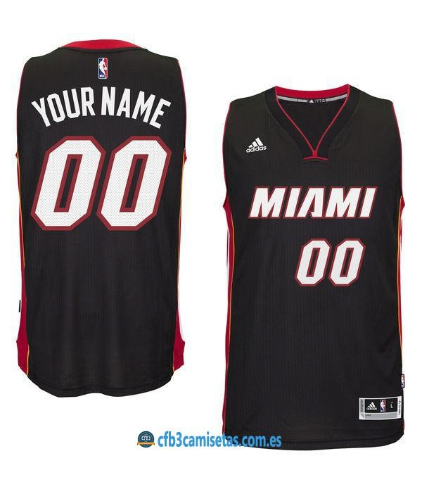 CFB3-Camisetas Miami Heat Road PERSONALIZABLE