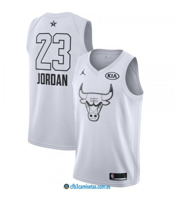 CFB3-Camisetas Michael Jordan 2018 All Star White