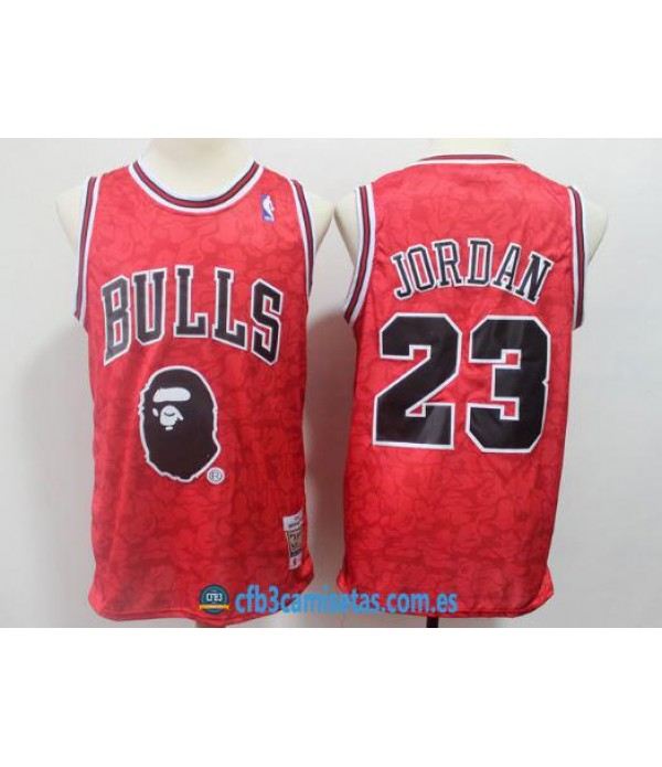 CFB3-Camisetas Michael Jordan Chicago Bulls BAPE