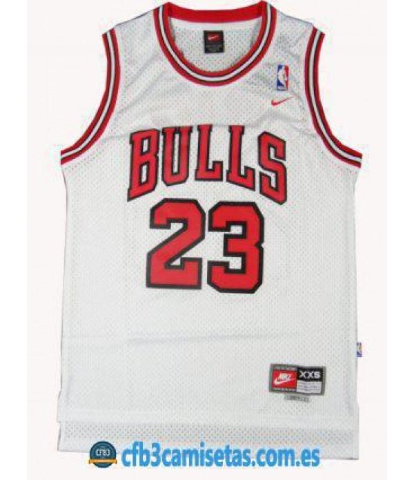 CFB3-Camisetas Michael Jordan Chicago Bulls Blanca
