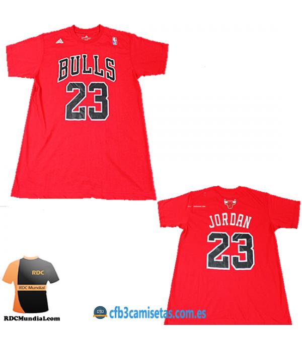 CFB3-Camisetas Michael Jordan Chicago Bulls Mangas