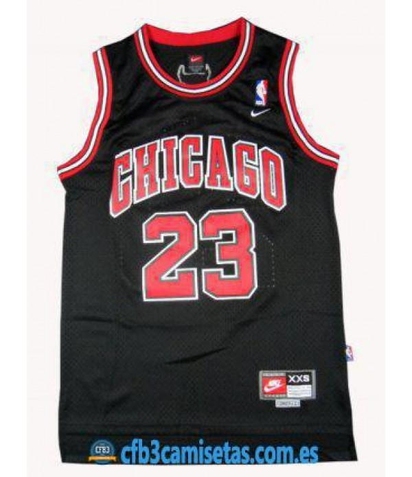CFB3-Camisetas Michael Jordan Chicago Bulls Negra