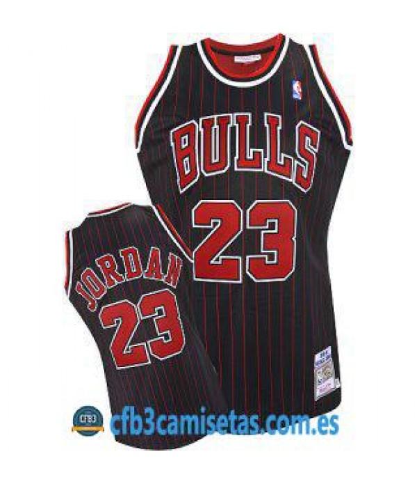 CFB3-Camisetas Michael Jordan Chicago Bulls Rayas