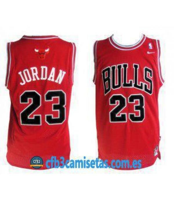 CFB3-Camisetas Michael Jordan Chicago Bulls Roja II