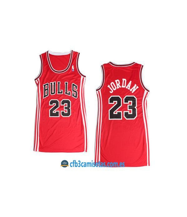 CFB3-Camisetas Michael Jordan Chicago Bulls Rojo Mujer
