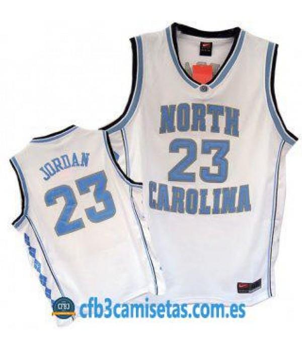 CFB3-Camisetas Michael Jordan North Carolina Blanca
