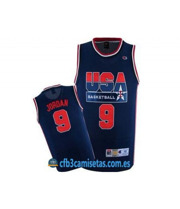 CFB3-Camisetas Michael Jordan USA Dream Team Negra