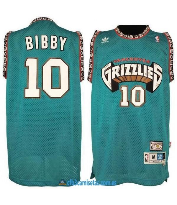 CFB3-Camisetas Mike Bibby Memphis Grizzlies Hardwo...