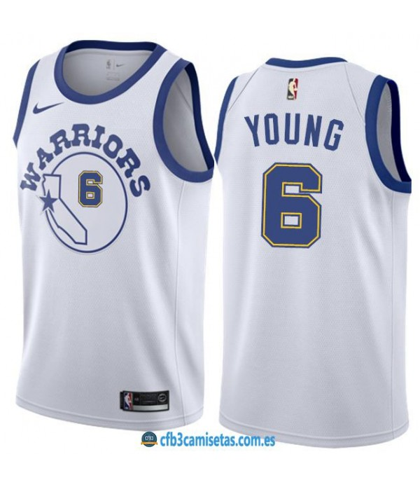 CFB3-Camisetas Nick Young Golden State Warriors Classic