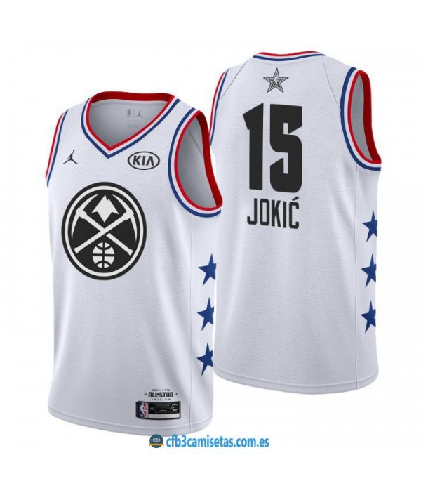 CFB3-Camisetas Nikola Jokić 2019 All Star White