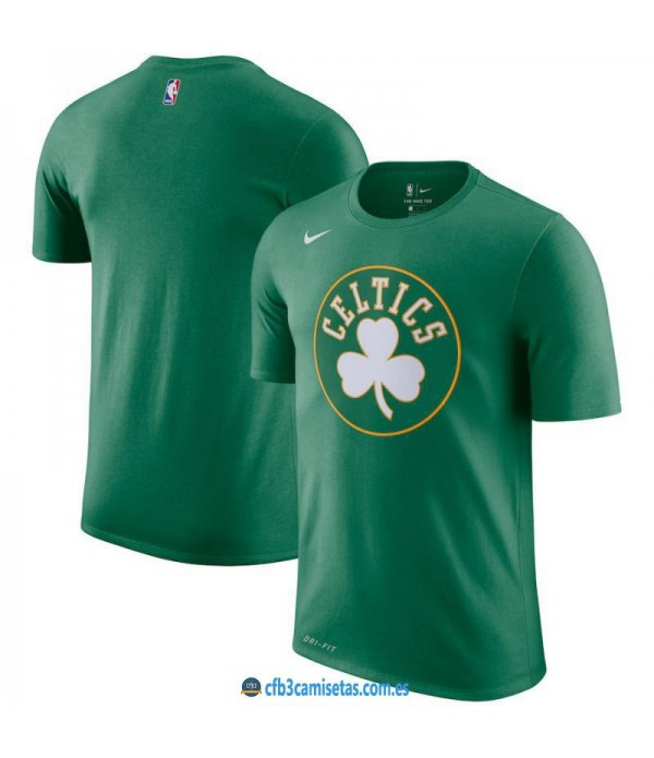 CFB3-Camisetas NoName Boston Celtics Sleeve Edition Verde