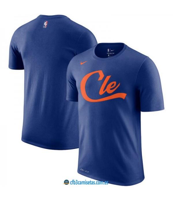 CFB3-Camisetas NoName Cleveland Cavaliers Sleeve Edition Azul